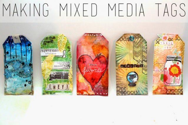 mixed media tags