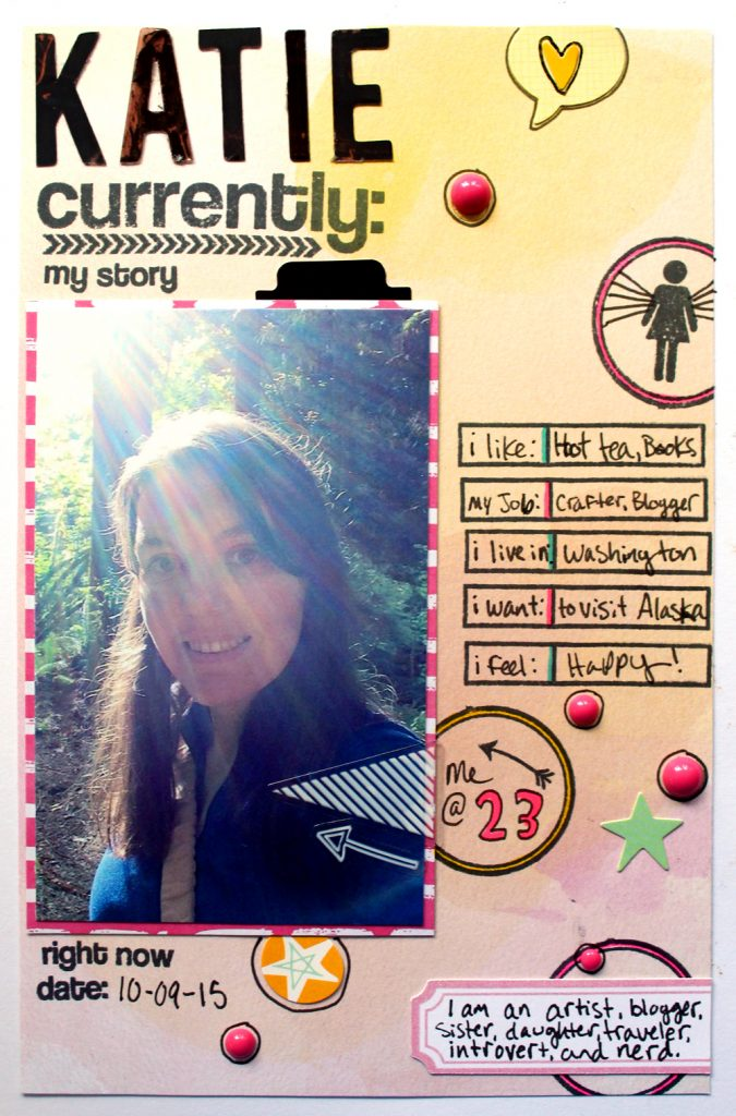 Guest Project: Katie and the Right Now Art Journal Scrapbook Page