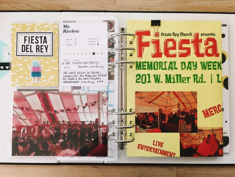 rukristin summer scrapbook michigan festivals album