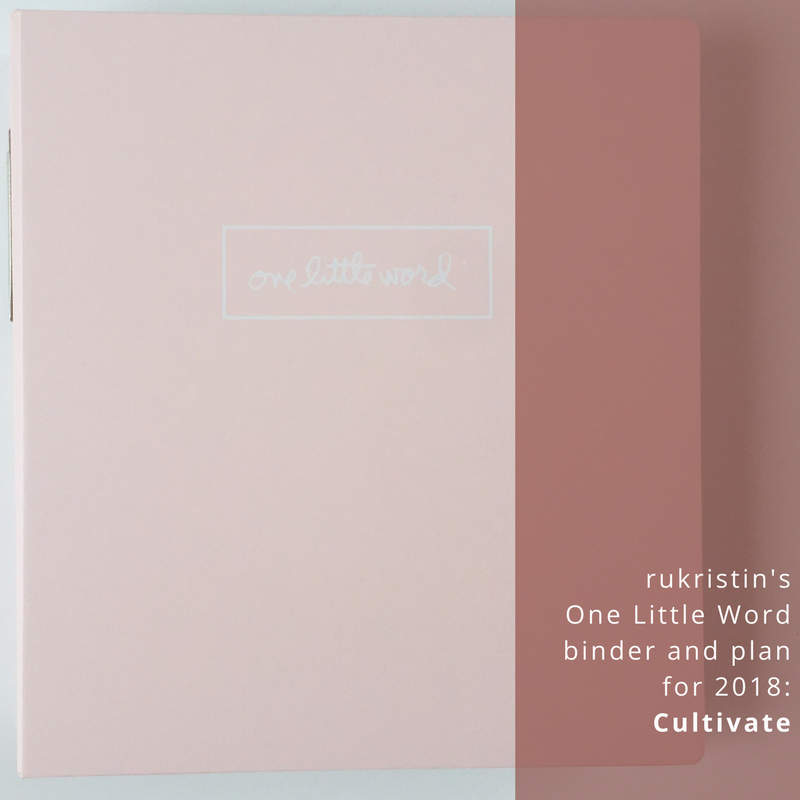 One Little Word rukristin cultivate