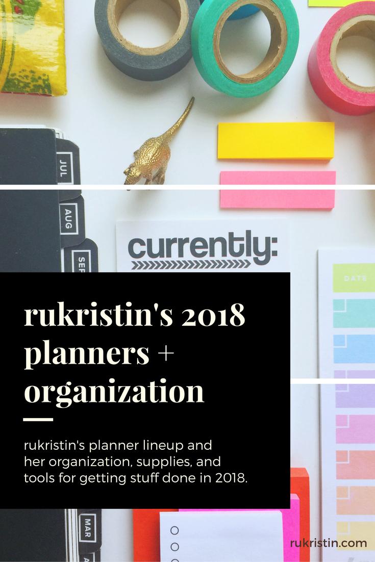 rukristin planner and organization